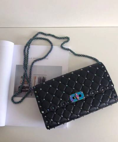 Клатч Valentino Rockstud Spike Cross Body Black